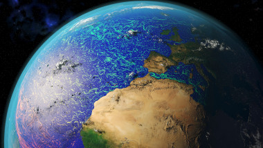 Ocean currents off Africa and Europe