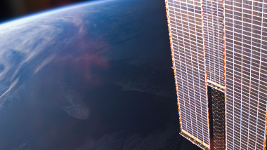Solar Array Panels Over Earth (NASA, International Space Station, 01/01/11)
