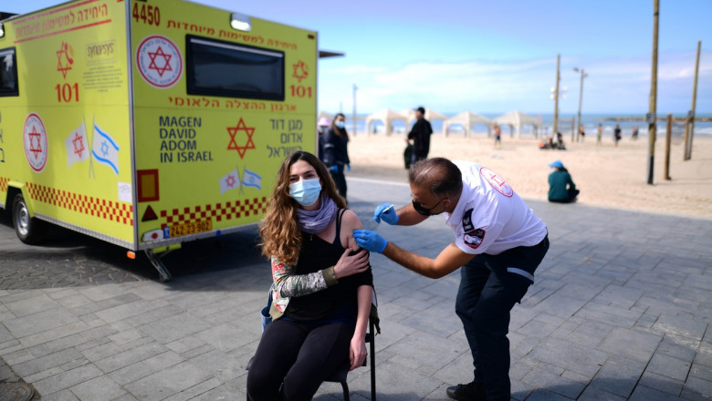 ISRAEL TEL AVIV COVID 19 VACCINATION