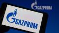 Gazprom Logo on Smartphone