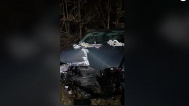 mașină lovita in urma accidentului rutier