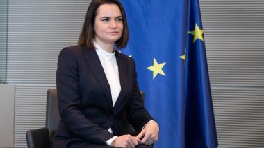 Belarusian Opposition Leader Tikhanovskaya Visits Berlin