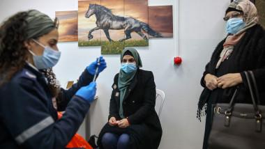 campanie vaccinare anti-COVID palestinieni în Israel