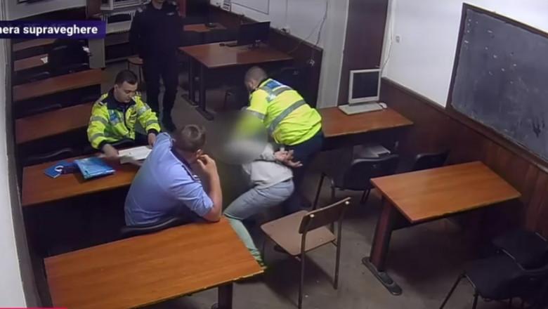 politisti sectie 16 filmati abuz