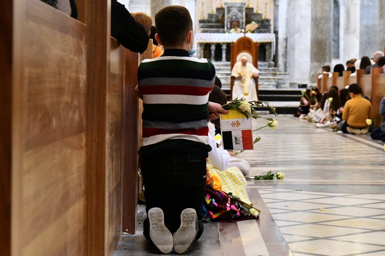 papa in biserica la qaraqosh profimedia-0595786421