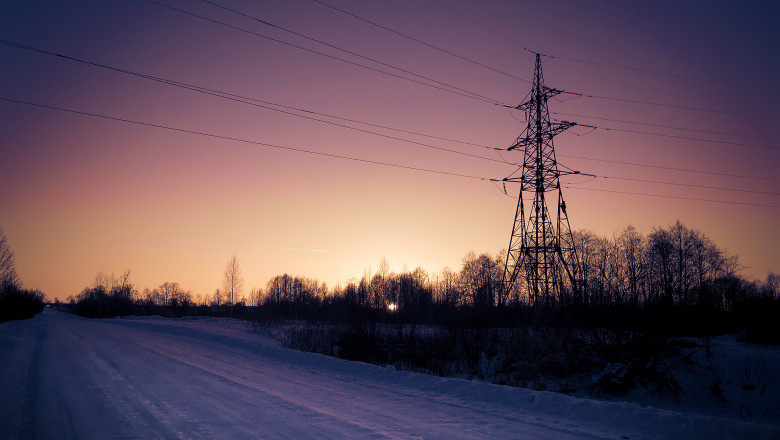 Power line in a rural area