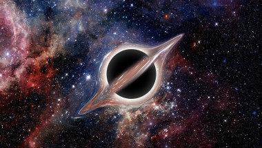 Black hole. Elements of image furnished by NASA
