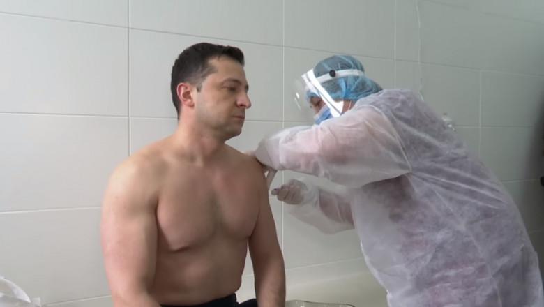 volodimir zelenski vaccinare - facebook