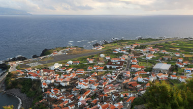 Panorama of the island Corvo Azores