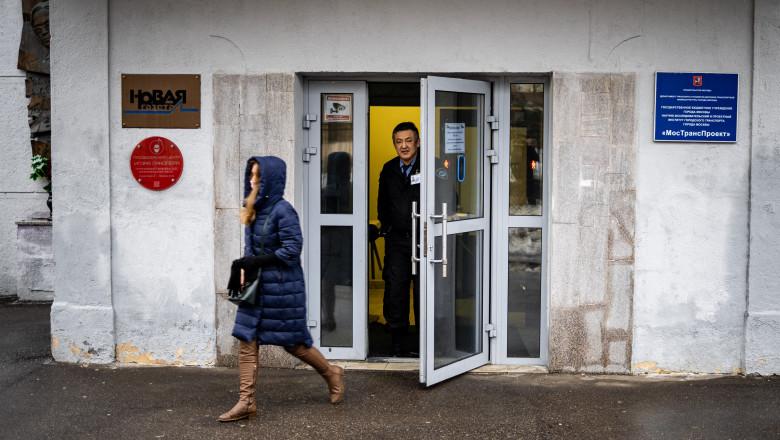 Intrarea în sediul redacţiei Novaia Gazeta din Moscova, ţinta unui atac cu o substanţă chimică necunoscută