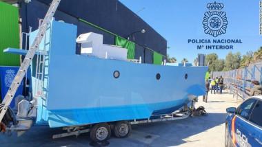 "primul ""narco-submarin"" fabricat în Spania"