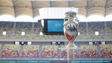 Trofeul ce va fi oferit câştigătoarei Euro 2020 expus pe Arena Naţională din Bucureşti în martie 2019
