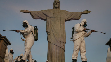 The Military Disinfects the Christ the Redeemer Amidst the Coronavirus (COVID - 19)