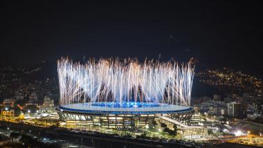 Artificii pe stadionul Maracana