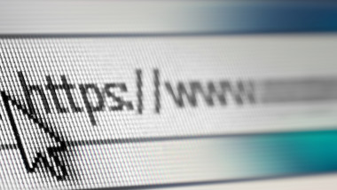 Closeup of Http Address in Web Browser in Shades of Blue - Shallow Depth of Field, border design panoramic banner