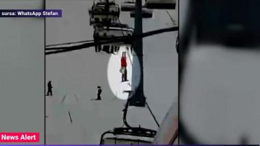 schior ramas agatat la telescaun