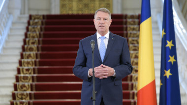 Președintele Klaus Iohannis la Palatul Cotroceni.