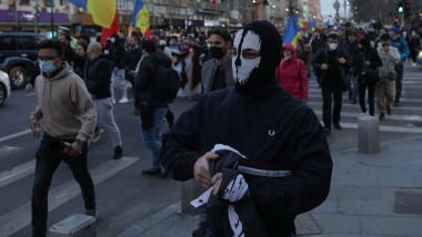 Protest AUR împotriva restricțiilor.