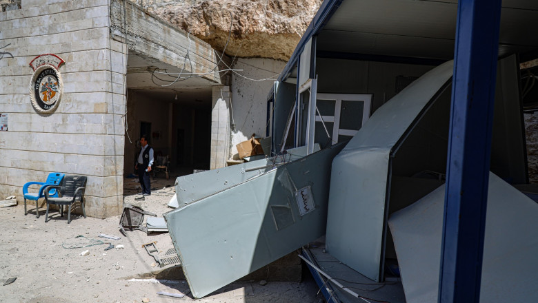 Al-Atareb City Hospital shelled in Idlib, Syria - 21 Mar 2021