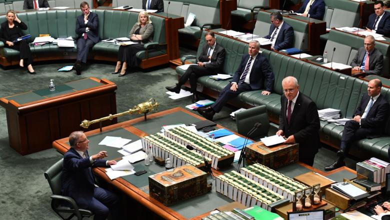 Ședință în Parlamentul Australian