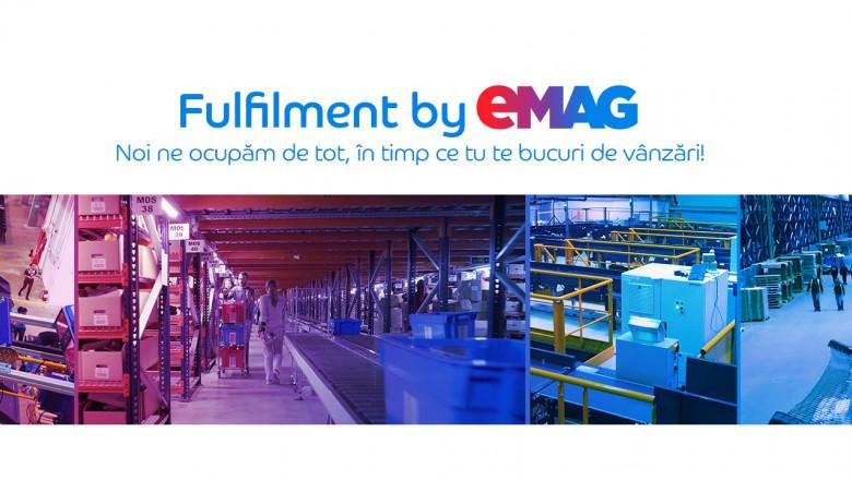 Fulfilment by eMAG, serviciu oferit de eMAG partenerilor