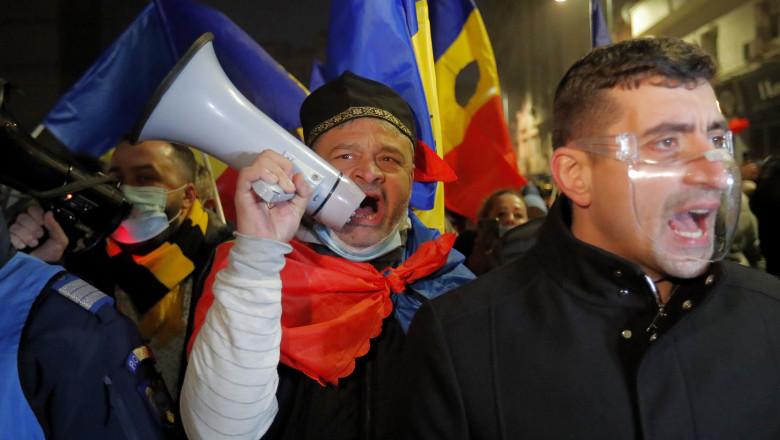 protest george simion aur
