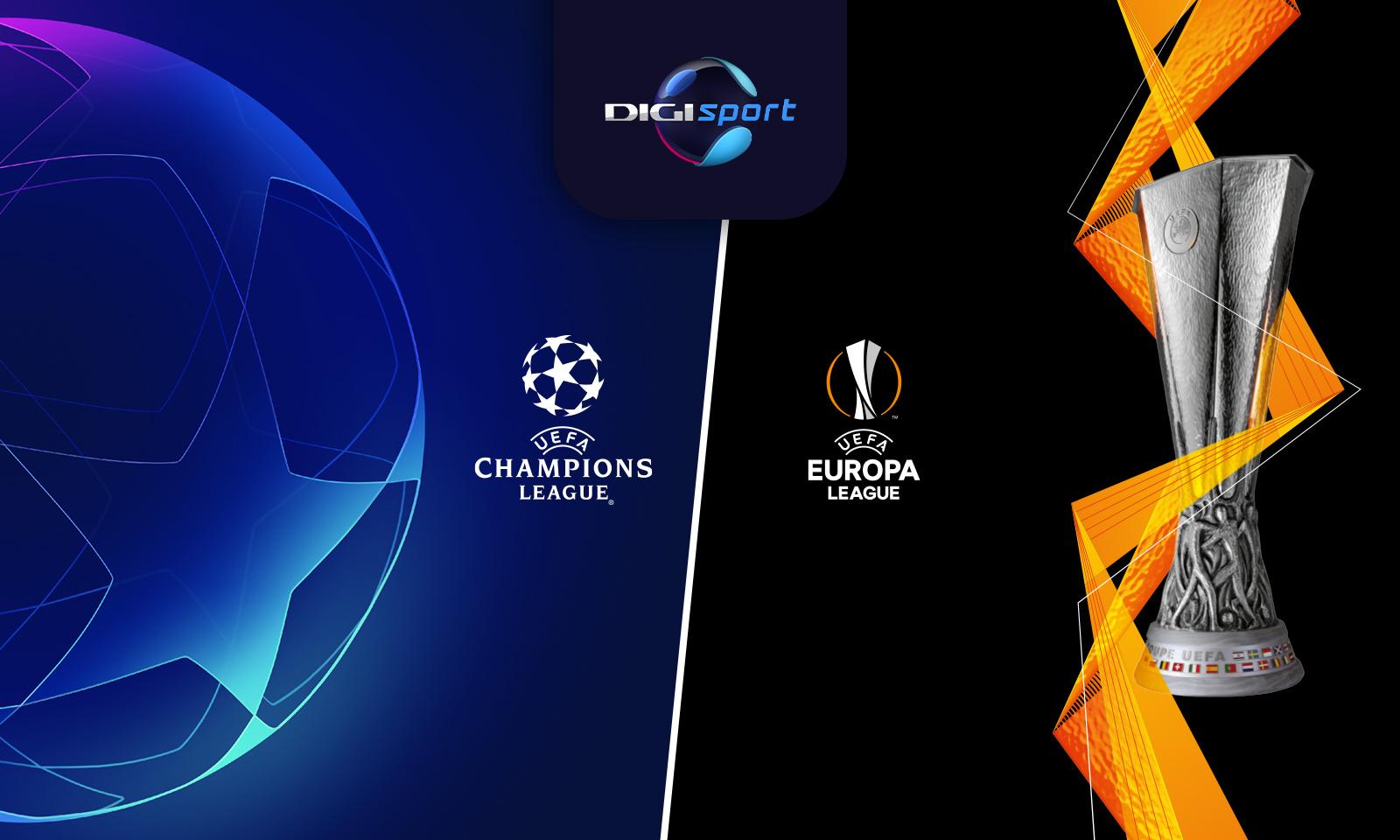 Sferturile de finala UEFA Champions League si UEFA Europa League, in direct, la Digi Sport si Digi 4K