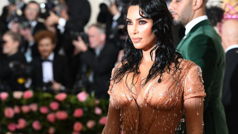 Kim Kardashian la o gală de modă în mai 2019.