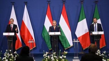 polonia ungaria italia Morawiecki Orban Salvini profimedia-0602782262