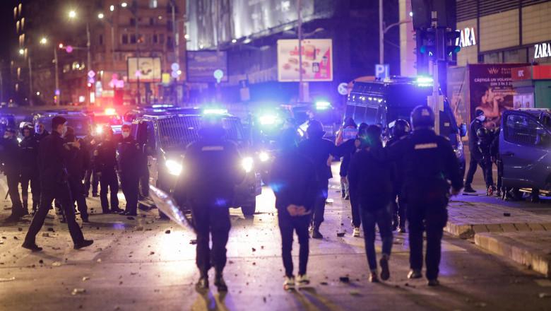 protest violenta bucuresti inquam george calin