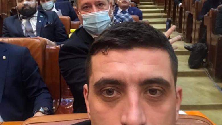 george-simion-selfie-parlament