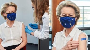 ursula von der leyen s-a vaccinat - twitter