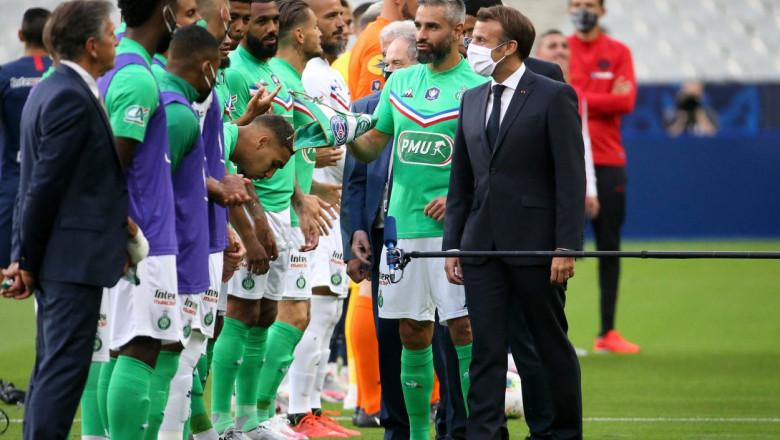 Superliga de fotbal criticată dur de Emmanuel Macron