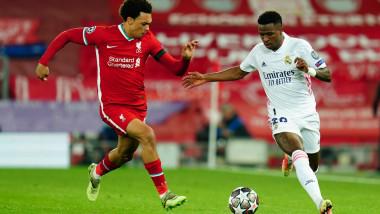Partidă între Liverpool și Real Madrid, două dintre echipele înscrise în Superliga Europei