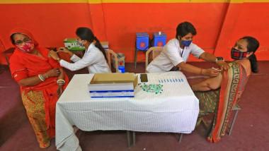 Centru de vaccinare Covid în India