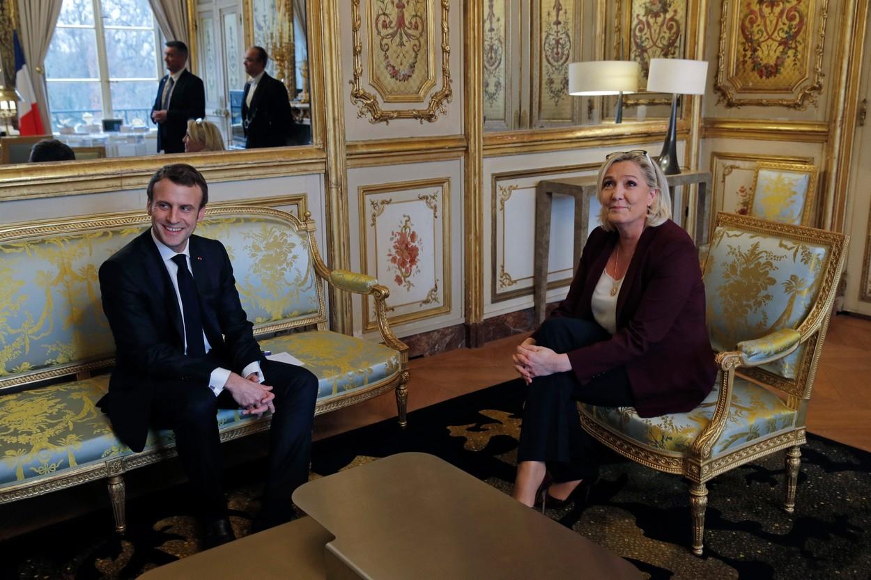 """""""Meci revansa"""" pentru presedintia Frantei in 2022. Macron si Le Pen sunt favoriti sa ajunga in turul doi al alegerilor"""