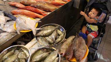 Piață umedă din Singapore