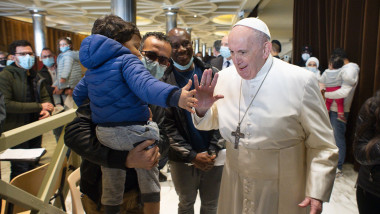 Pope Francis visits Paul VI Hall, The Vatican, Rome, Italy - 23 Apr 2021
