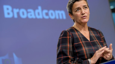 Margrethe Vestager press conference, Brussels, Belgium - 07 Oct 2020