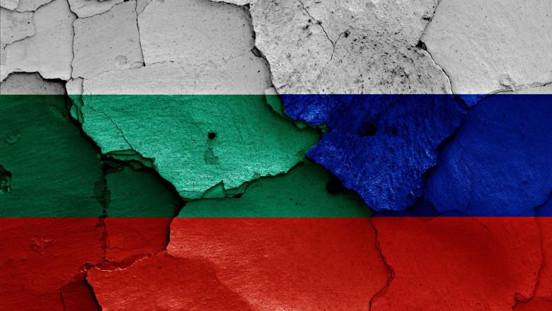 Steagul Bulgariei și cel al Rusiei