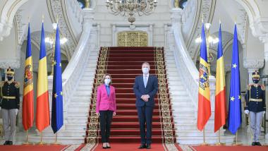 Klaus Iohannis și Maia Sandu la Cotroceni-sursa presidency