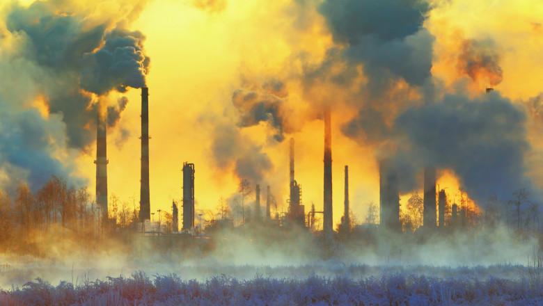 poluare fum platforma industriala getty