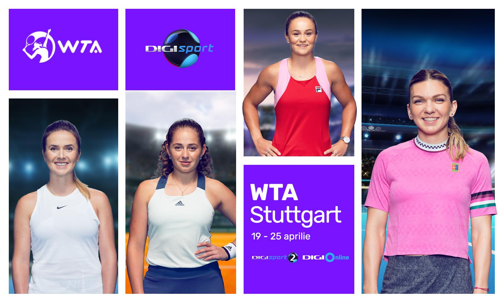 Digi Sport transmite in exclusivitate turneul WTA Stuttgart