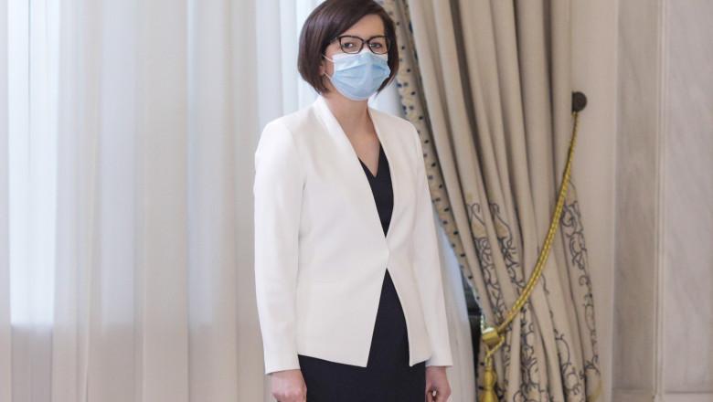 Ioana Mihăilă a depus jurământul ca ministru al sănătății în prezența președintelui Klaus Iohannis