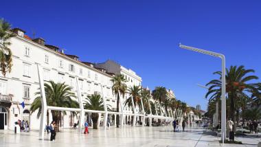 Promenada din Split, Croația.