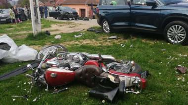 motociclist ranit accident rutier