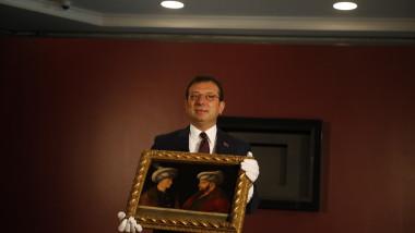primarul din istanbul cu portretul sultanului Mehmet al ii-lea