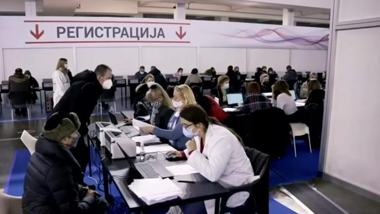 Centru de vaccinare în Serbia