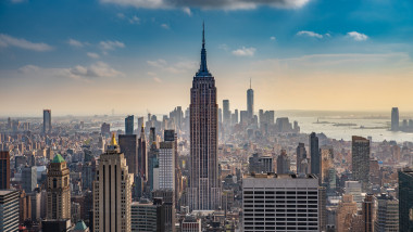 Empire State Building, văzută de pe Rockefeller