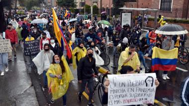 proteste in bogota columbia